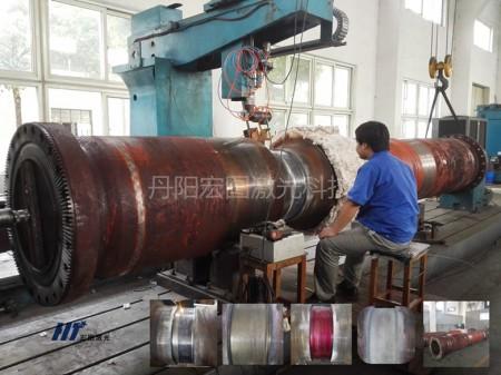 钢厂大型中间接轴轴承位激光修复