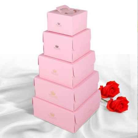西点透明手提生日蛋糕盒方形