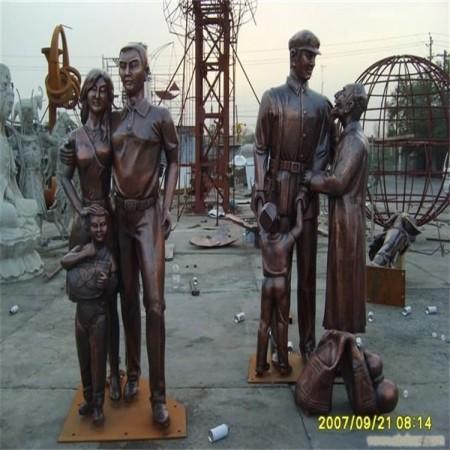 大型玻璃钢铸铜雕塑工艺品