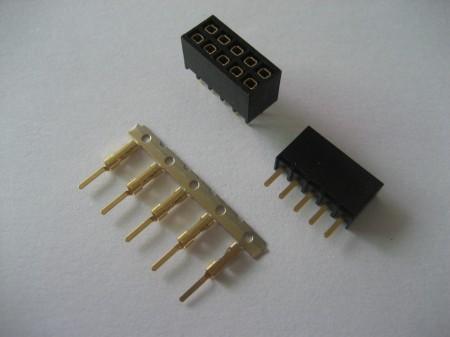 专业生产单双排直插插针连接器