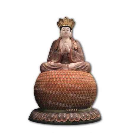 千叶绕毗卢遮那佛铜铸佛像