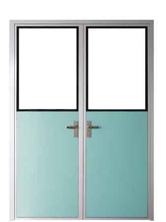 铝合金框密胺脂板洁净门