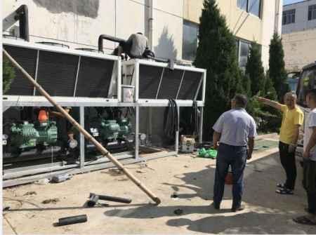 空气能热泵遂道式烘干设备